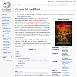 Formosa Betrayed (film) - Wikipedia