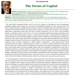 The Forms of Capital by Pierre Bourdieu 1986