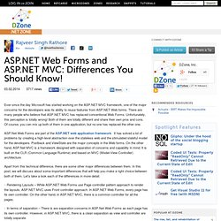 ASP.NET Web Forms and ASP.NET MVC: Differences You Should Know!