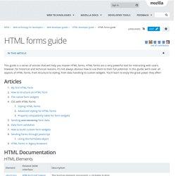 HTML forms guide - Web developer guides