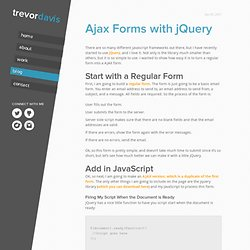 Ajax Forms with jQuery | Trevor Davis