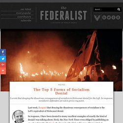 The Top 5 Forms of Socialism Denial Rampant In The West