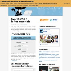 Top 10 CSS 3 forms tutorials