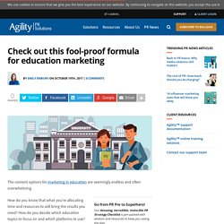 Check out this fool-proof formula for education marketing
