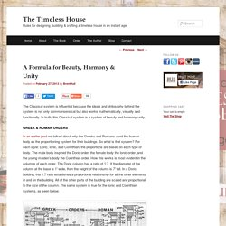 A Formula for Beauty, Harmony & Unity - The Timeless House