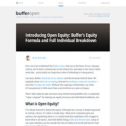 Open Equity: Buffer's Equity Formula And Full Individual Breakdown