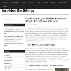 Weight Loss Shakes Review