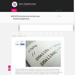 [PHP] Formulaire de contact avec champs obligatoires