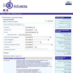 EDU'bases lettres - Formulaire de recherche et résultats pour : 25-04-2012