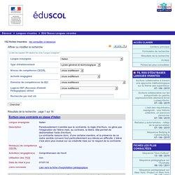 EDU'bases langues vivantes - Formulaire de recherche et résultats pour : Italien, Lycée général et technologique
