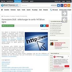 Formulaire DUE : télécharger le cerfa 14738 en ligne