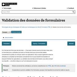 Validation des formulaires de données - Guides pour développeurs Web