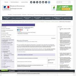 Démarches et formulaires - Ministère de l'Environnement, de l'Energie et de la Mer