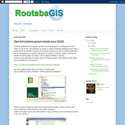 Des formulaires personnalisés pour QGIS