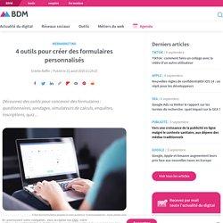 4 outils pour créer des formulaires personnalisés