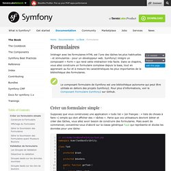Formulaires (The Symfony Book)