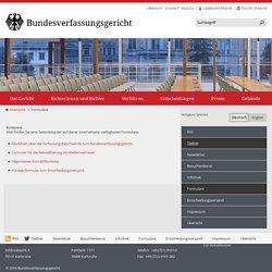 Bundesverfassungsgericht - Formulare