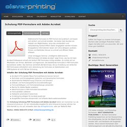 Schulung PDF-Formulare mit Adobe Acrobat › Cleverprinting