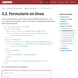 5.2. Formulario en línea (Bootstrap 3, el manual oficial)