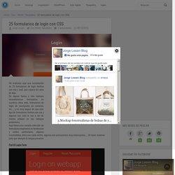 25 formularios de login con CSS - jorgelessin.com