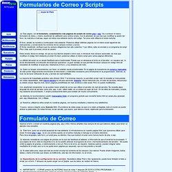 Formularios de correo y scripts javascript
