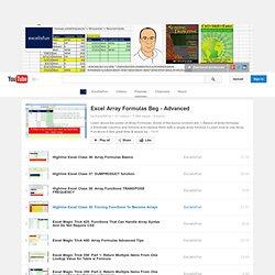 Excel Array Formulas Beg - Advanced