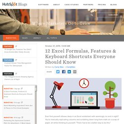 12 Excel Formulas, Features & Keyboard Shortcuts Everyone Should Know