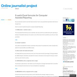 8 useful Excel formulas for Computer Assisted Reporting « Online journalist project