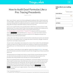 How to Audit Excel Formulas Like a Pro: Tracing Precedents