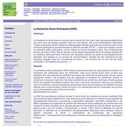 cours: la formulation participative des projets