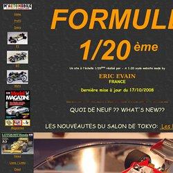 Formule 1/20ème : le site des maquettistes de Formule 1 au 1/20éme