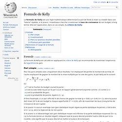 Formule de Kelly