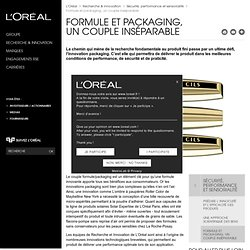 Formule et packaging, un couple inséparable