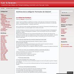 Formules de Cabaret « La Liasse.