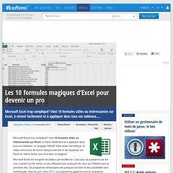 Les 10 formules magiques d'Excel pour devenir un pro