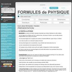 Formules Physique