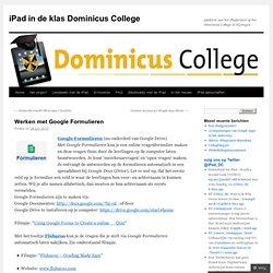 iPad in de klas Dominicus College