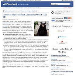 Forrester Says Facebook Commerce Won't Take Off