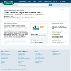 The Customer Experience Index, 2007