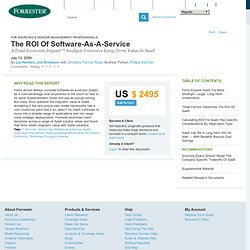 The ROI Of Software-As-A-Service