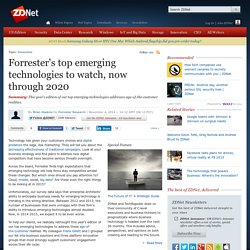 Forrester's top emerging technologies to watch, now through 2020