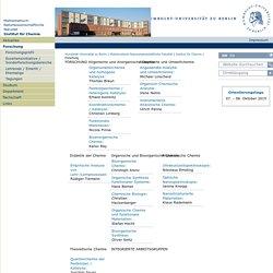 Forschung — Institut für Chemie