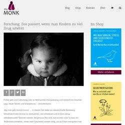Forschung: Das passiert, wenn man Kindern zu viel Zeug schenkt