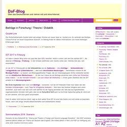 Forschung / Theorie / Didaktik