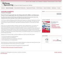 Neues Forschungsprojekt über die Zivilgesellschaft in Mittel- und Osteuropa - Stiftung & Sponsoring