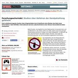 Forschungsschwindel: Studien über Gefahren der Handystrahlung gefälscht