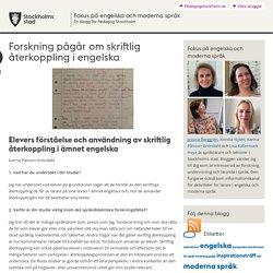 Forskning pågår om skriftlig återkoppling i engelska