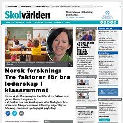 Norsk forskning: Tre faktorer för bra ledarskap i klassrummet