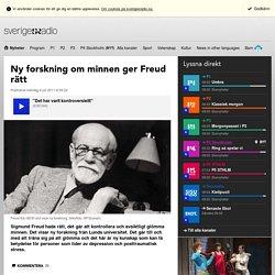 Ny forskning om minnen ger Freud rätt