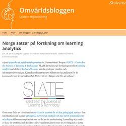 Norge satsar på forskning om learning analytics – Omvärldsbloggen